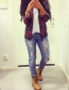 Black girl tips for timberlands and flannel, The Timberland Company
