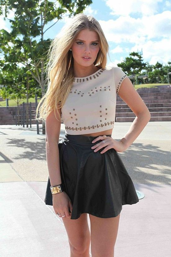 Talk more about your skater skirt outfits, Leather Skater Skirt