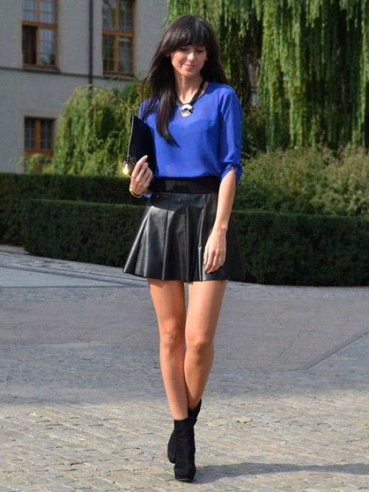 Wear with a leather skirt