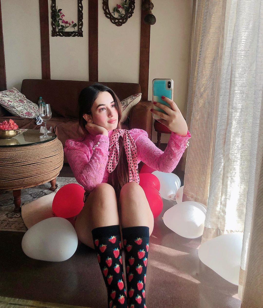 Aditi Budhathoki Instagram Pics, Pink M