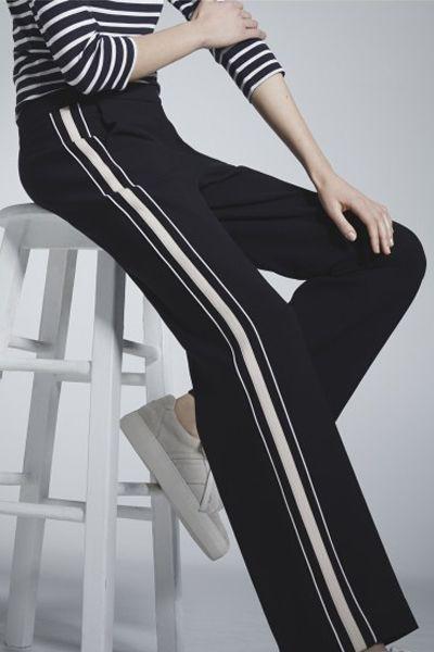Trend jeans 2019 side stripe, Neon Rose
