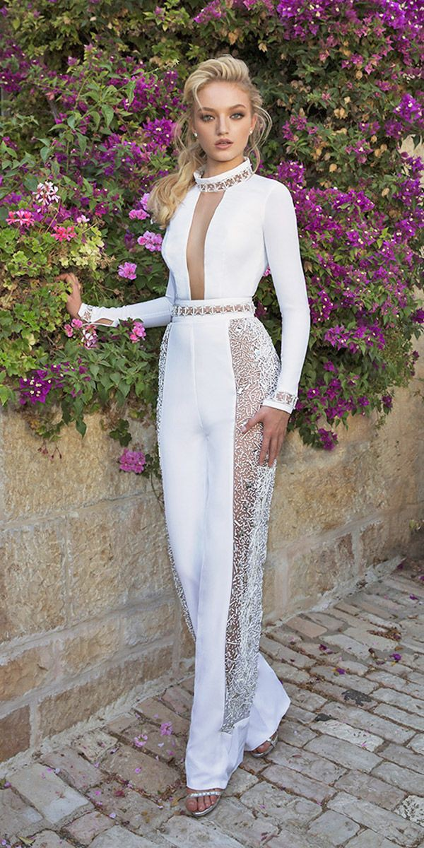 Perfectly crafted wedding jumpsuits 2018, Wedding dress