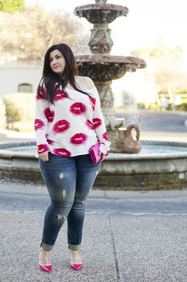 Plus size casual valentines day outfit