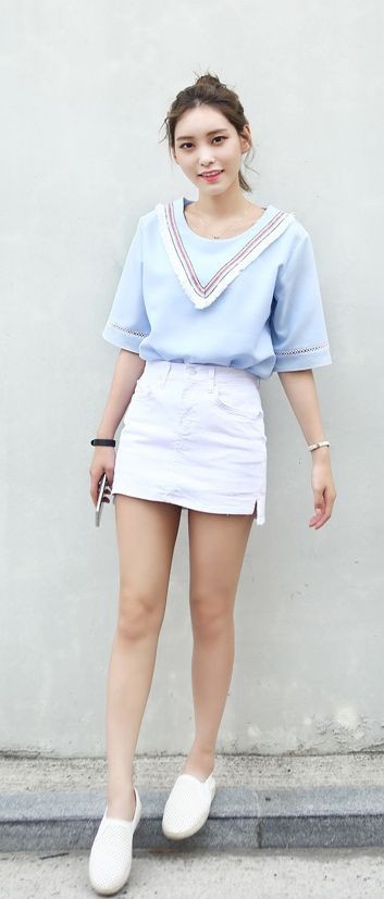 Cute simple korean outfit for girls