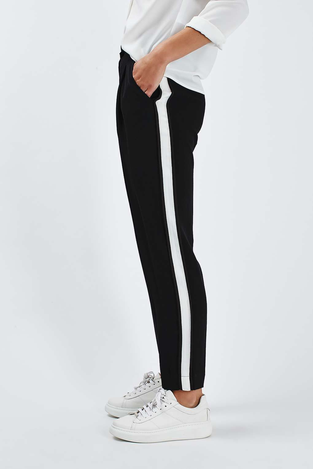 Retro style pants with stripe, The Idle Man