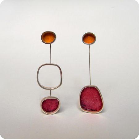 Asymmetrical Earrings Trend, Jewelry design, Sterling silver