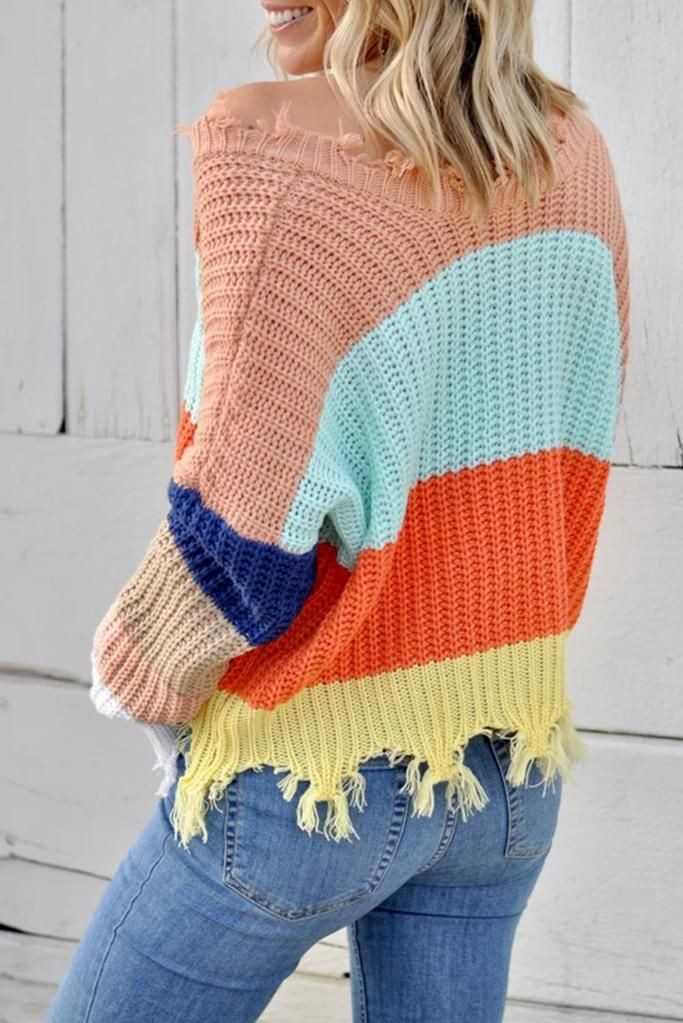Cute Color Block Sweaters outfit