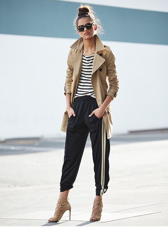 Find more of combinar pants, Trench coat