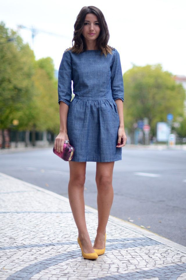 Once in the life time denim dress style, Denim skirt