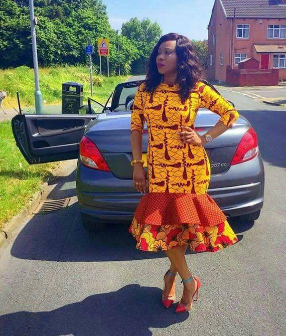 Best ankara styles short gown