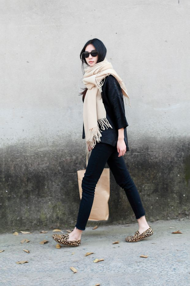 Snow winter Work Outfits For Winter, Leopard Print Loafers, Animal print