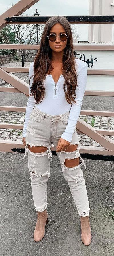 Outfits For Skinny Women, Casual wear, Mom jeans
