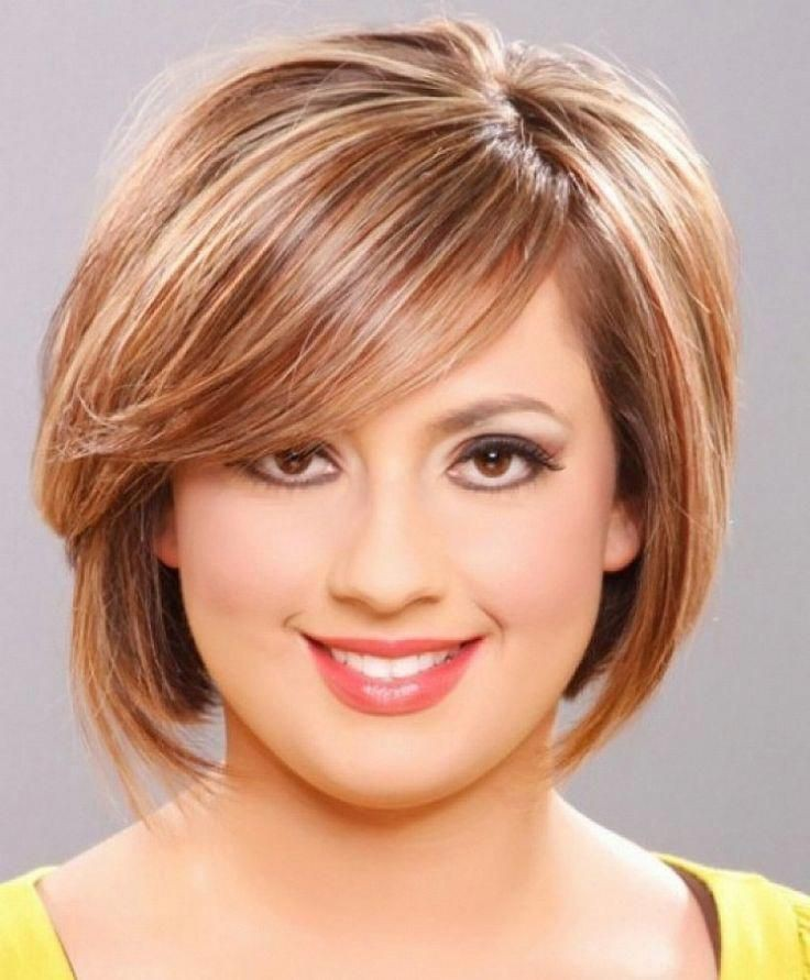 Short hair style for fat face