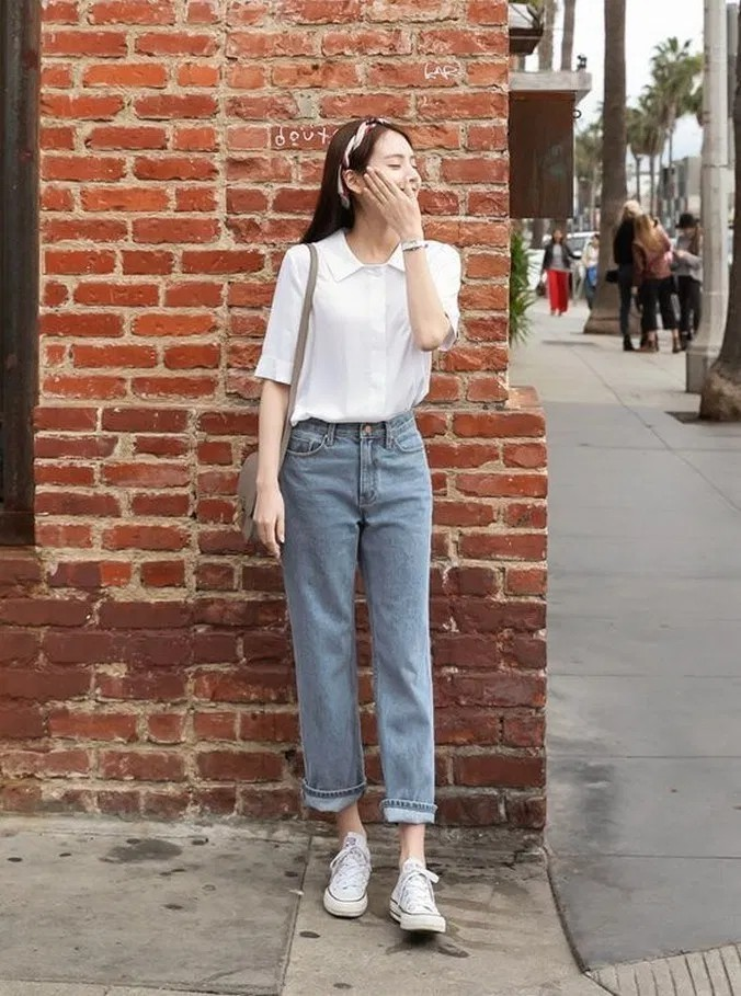 Beautiful and adorable korean spring outfits, Casual wear