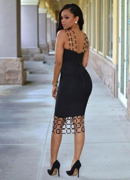 Great pictures of fashion model, Little black dress