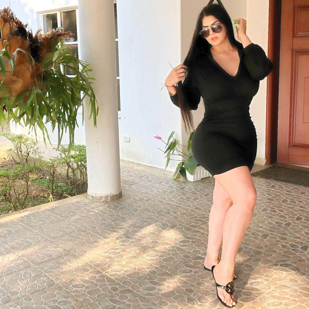 Graciela Montes Model, Little black dress