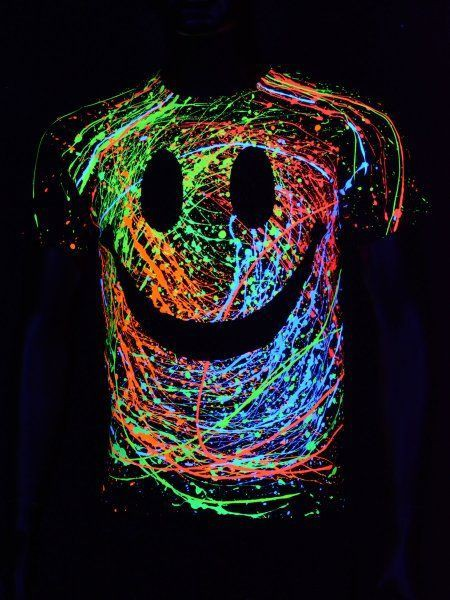 Great ideas for neon party shirt that glow in the dark
