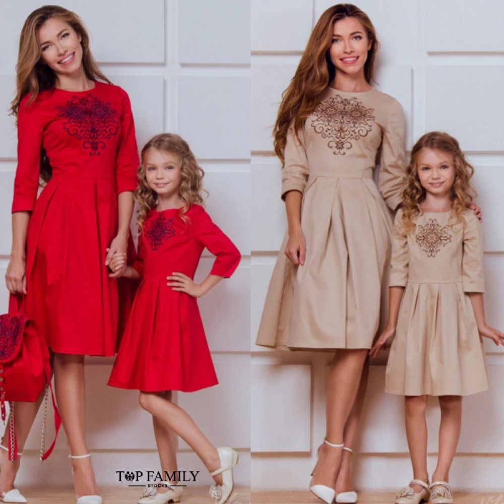 Mother daughter christmas outfits, Party dress