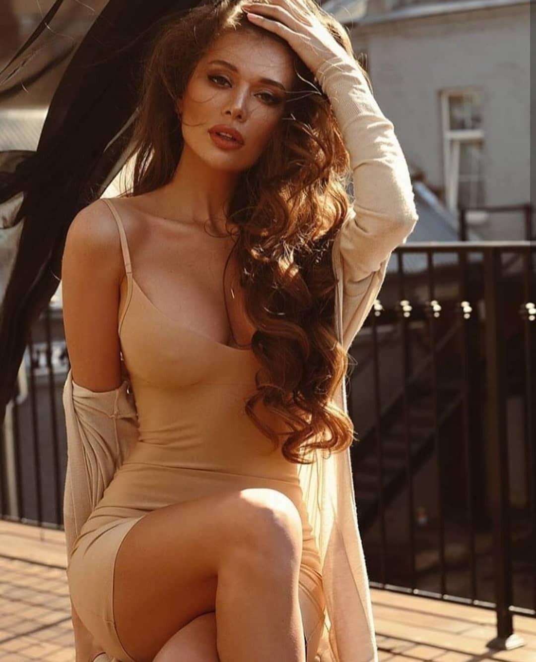 Nice and decorative fashion model, Anna Kovalchuk