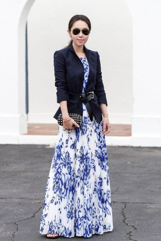 Trending images of fashion model, Maxi dress