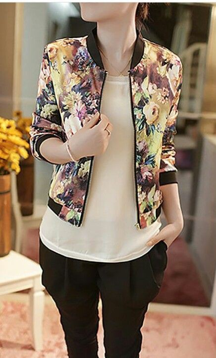 Stylish printed jackets for girls