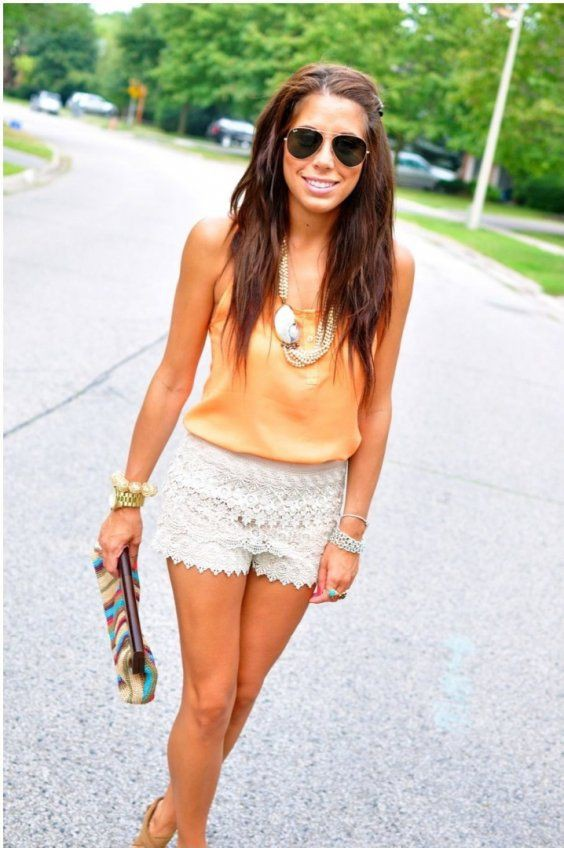 Oh my god! Check out this ruffle shorts outfits, Casual wear