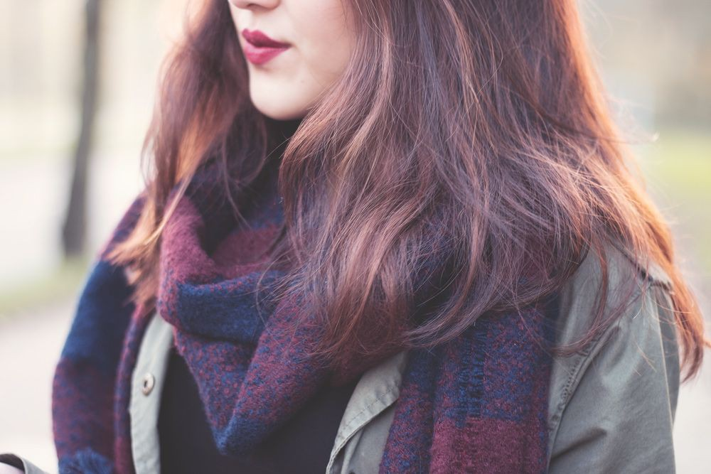 Dresses With Scarves, Hair coloring, Long hair