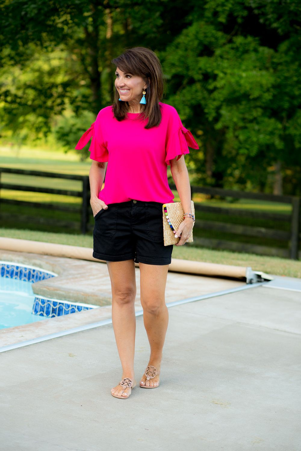 Outfits With Black Shorts, Platform shoe