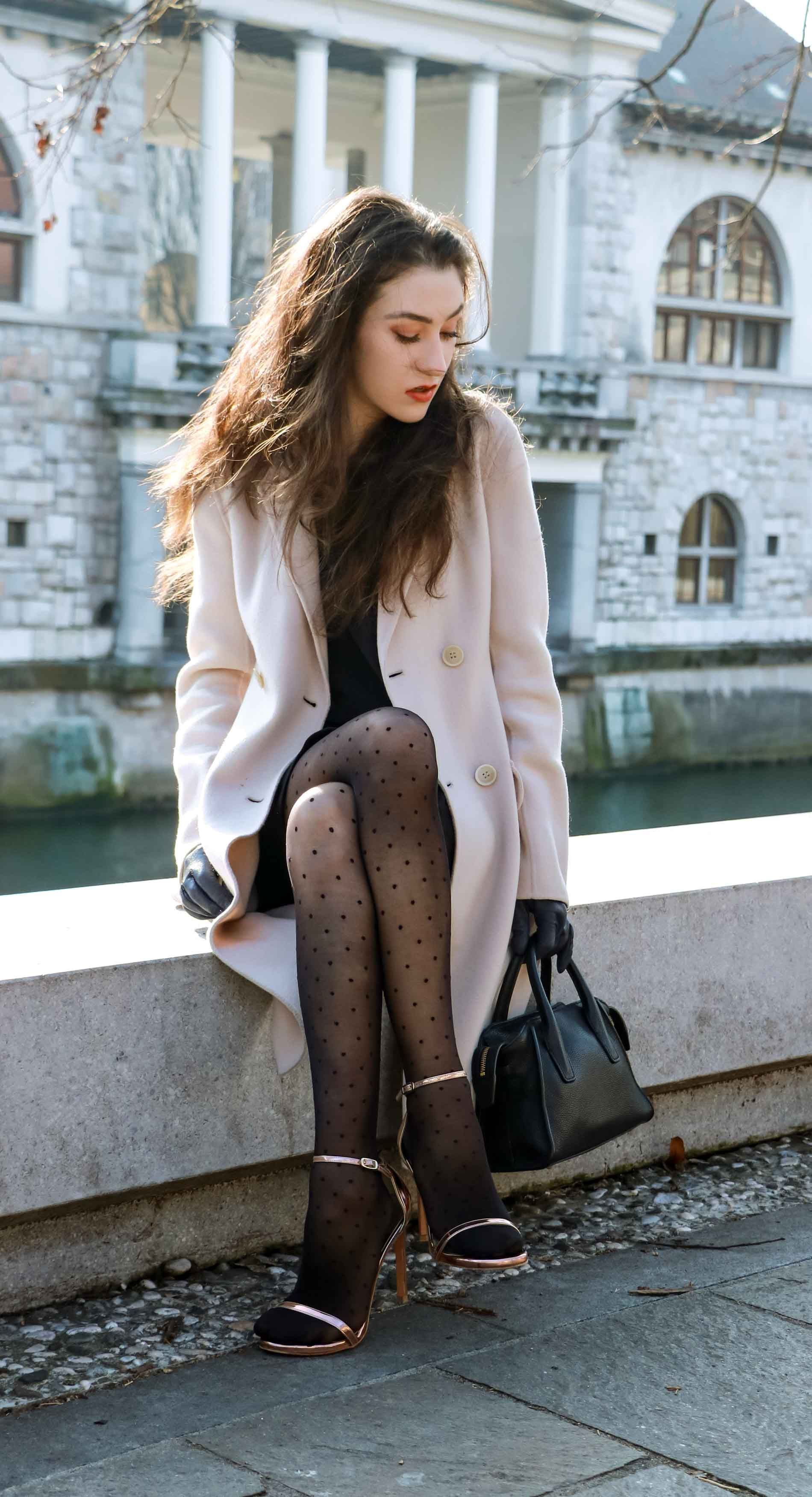 Find out amazing ideas for brunette skirt tights, Polka dot