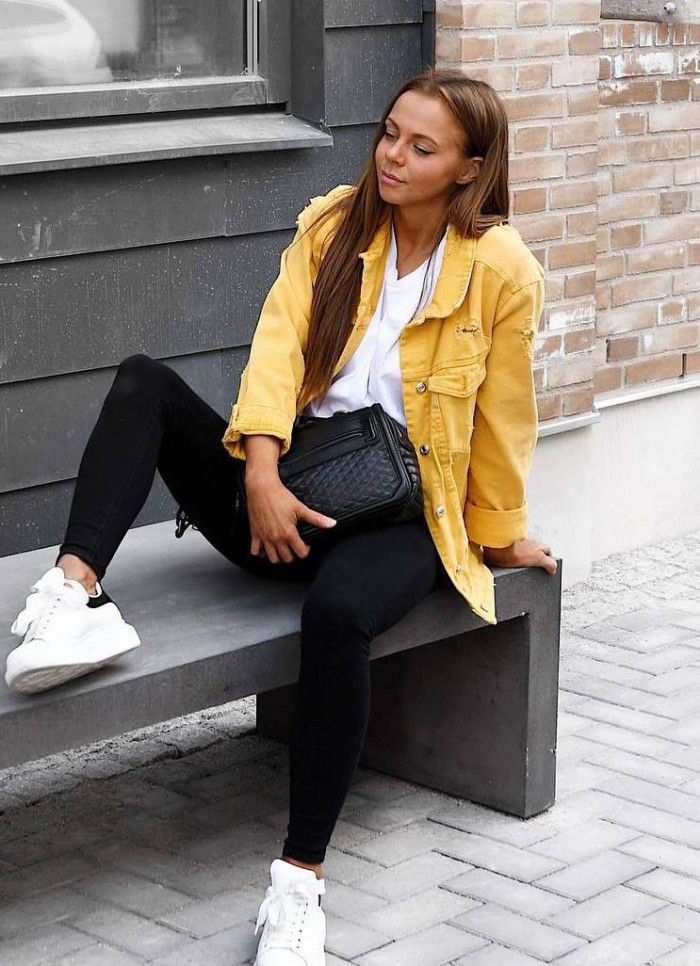 Everyday treat yellow jacket outfit, Casual wear