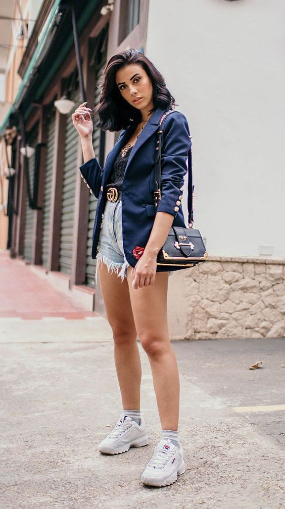 Summer Casual Blazer Outfits Female