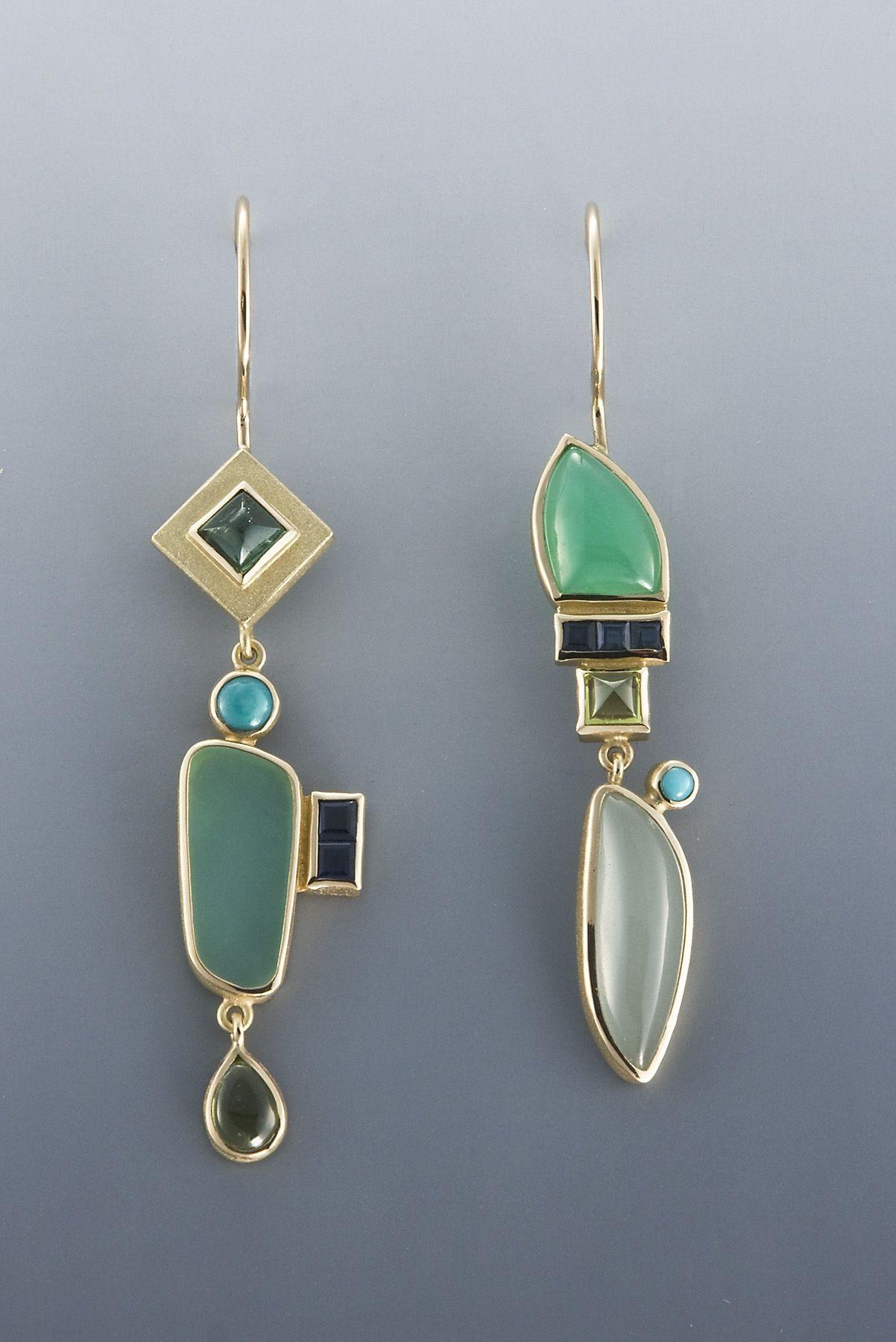 Elegant Asymmetrical Earrings, Jewelry design, Fashion accessory