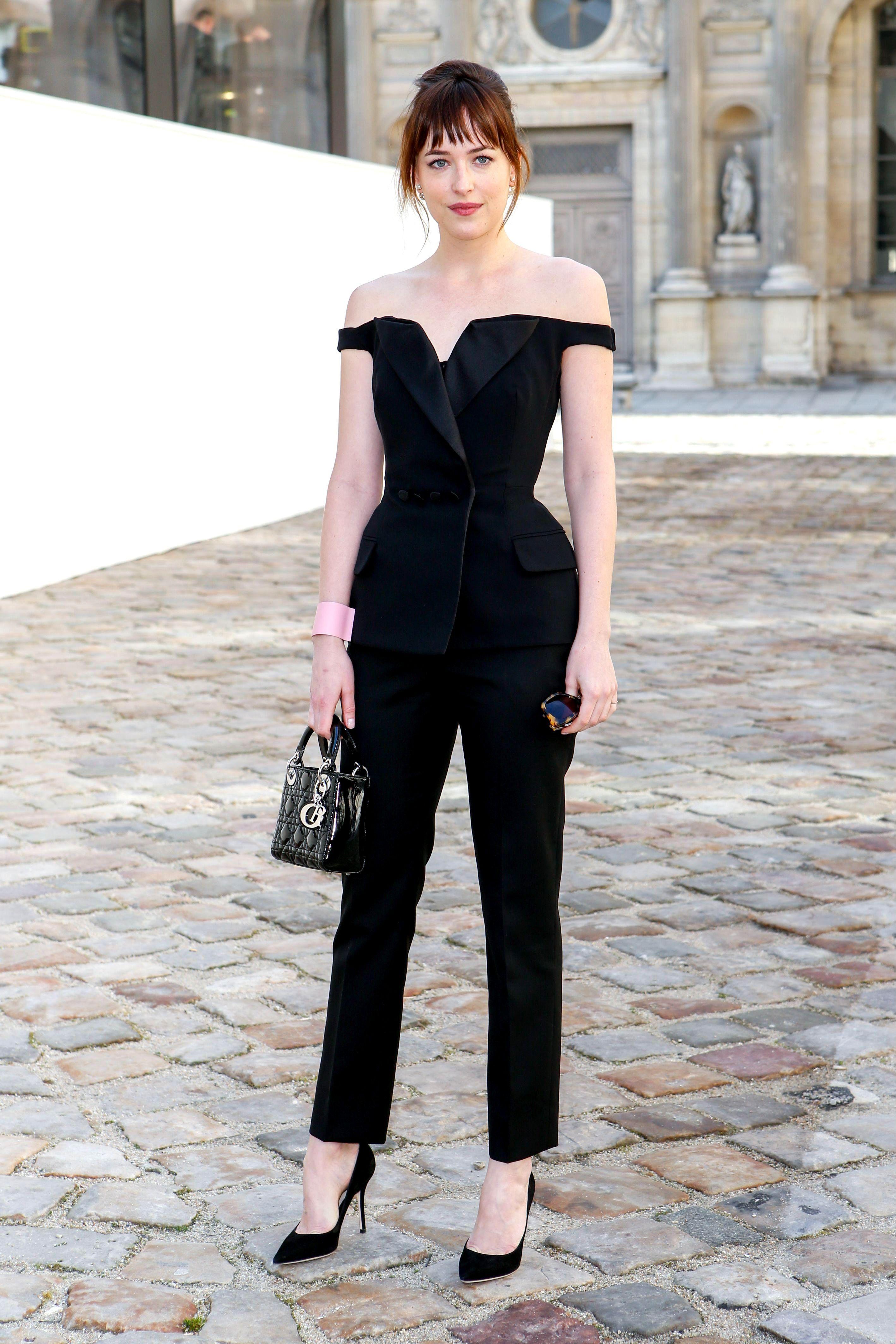 Lovely summer style fashion model, Paris Fashion Week