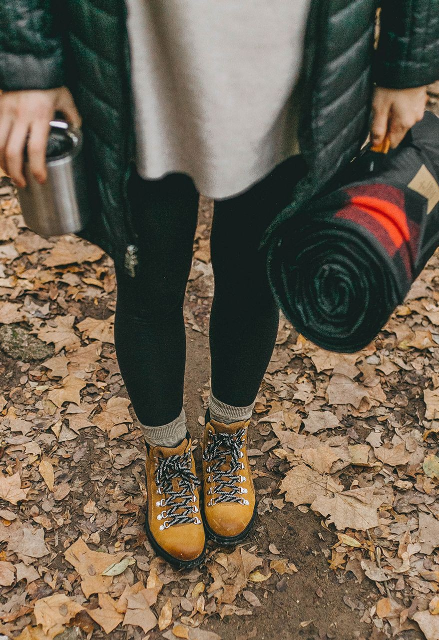 Lovely outfit ideas hiking outfit fall, Hiking boot