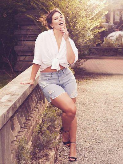 Ashley graham shorts outfits