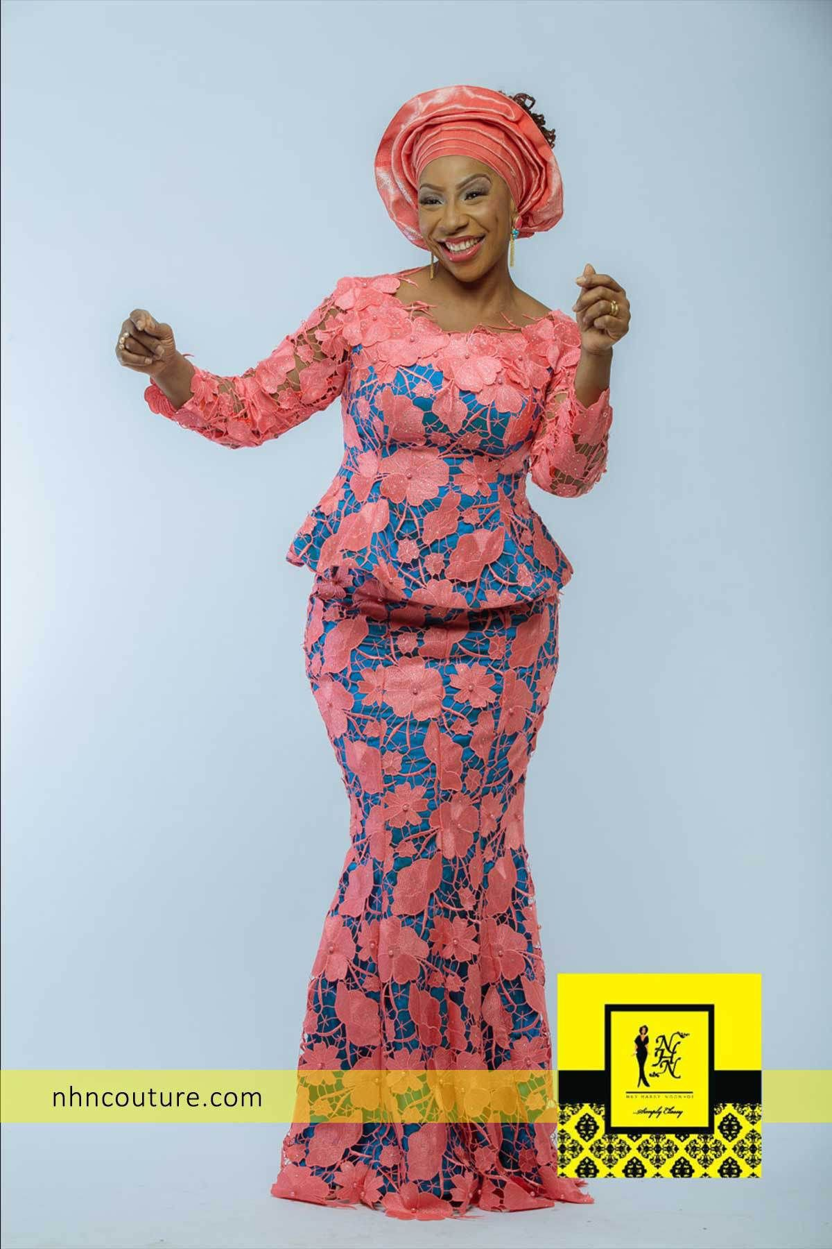 Nhn couture lace styles, Aso ebi