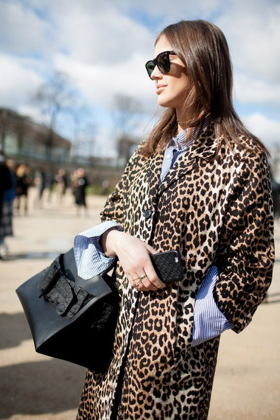 Just great! cappotto leopardato, Animal print