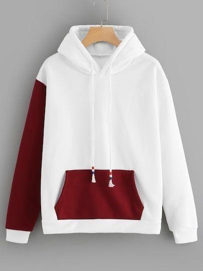 Plain black and white hoodie