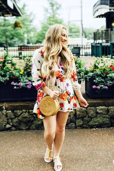 Floral Dresses Ideas For Girls, Romper suit