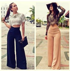 Find more of palazzo pants outfits, Crop top