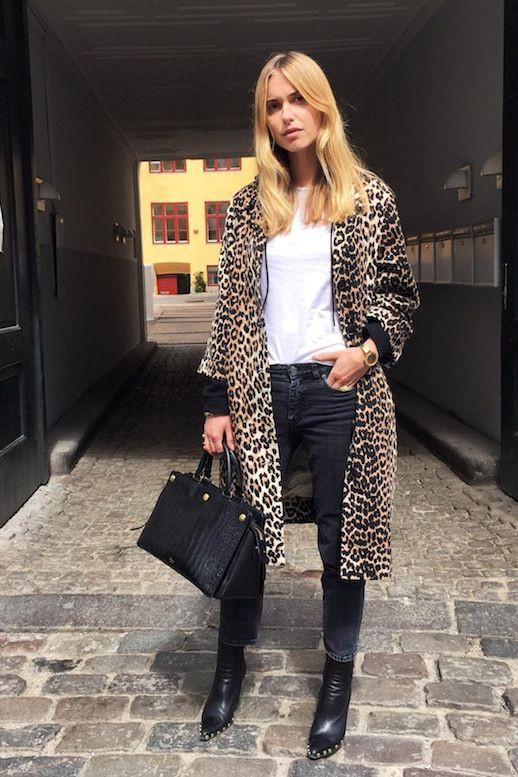Black and leopard print coats