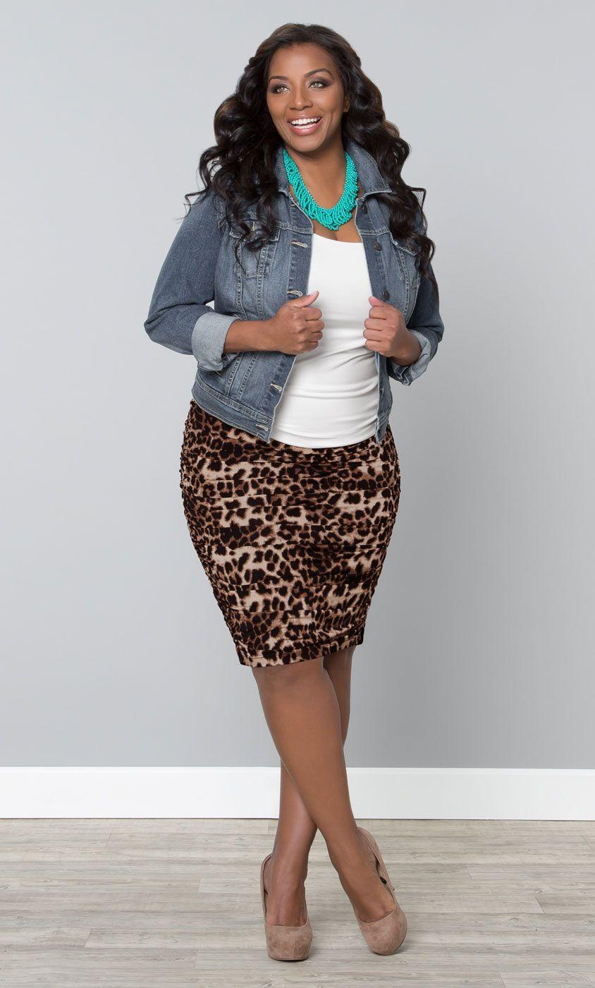 Leopard print skirts plus size
