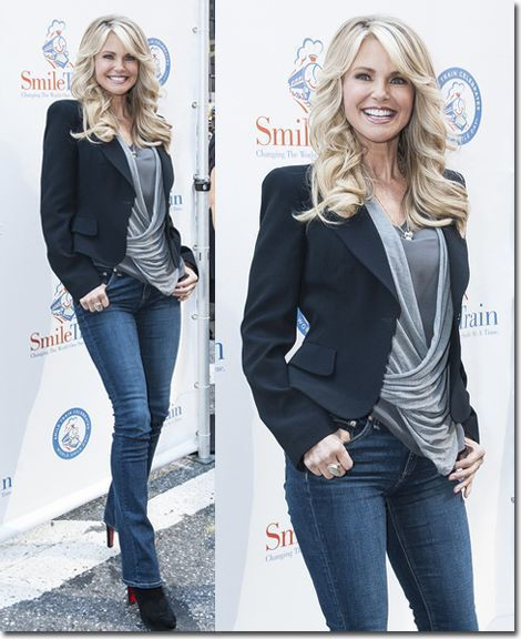 Try these look pulled together, Christie Brinkley