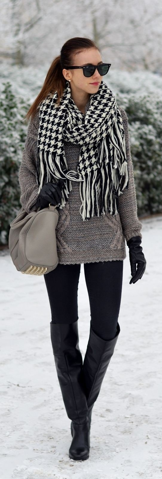 Black and grey winter outfits