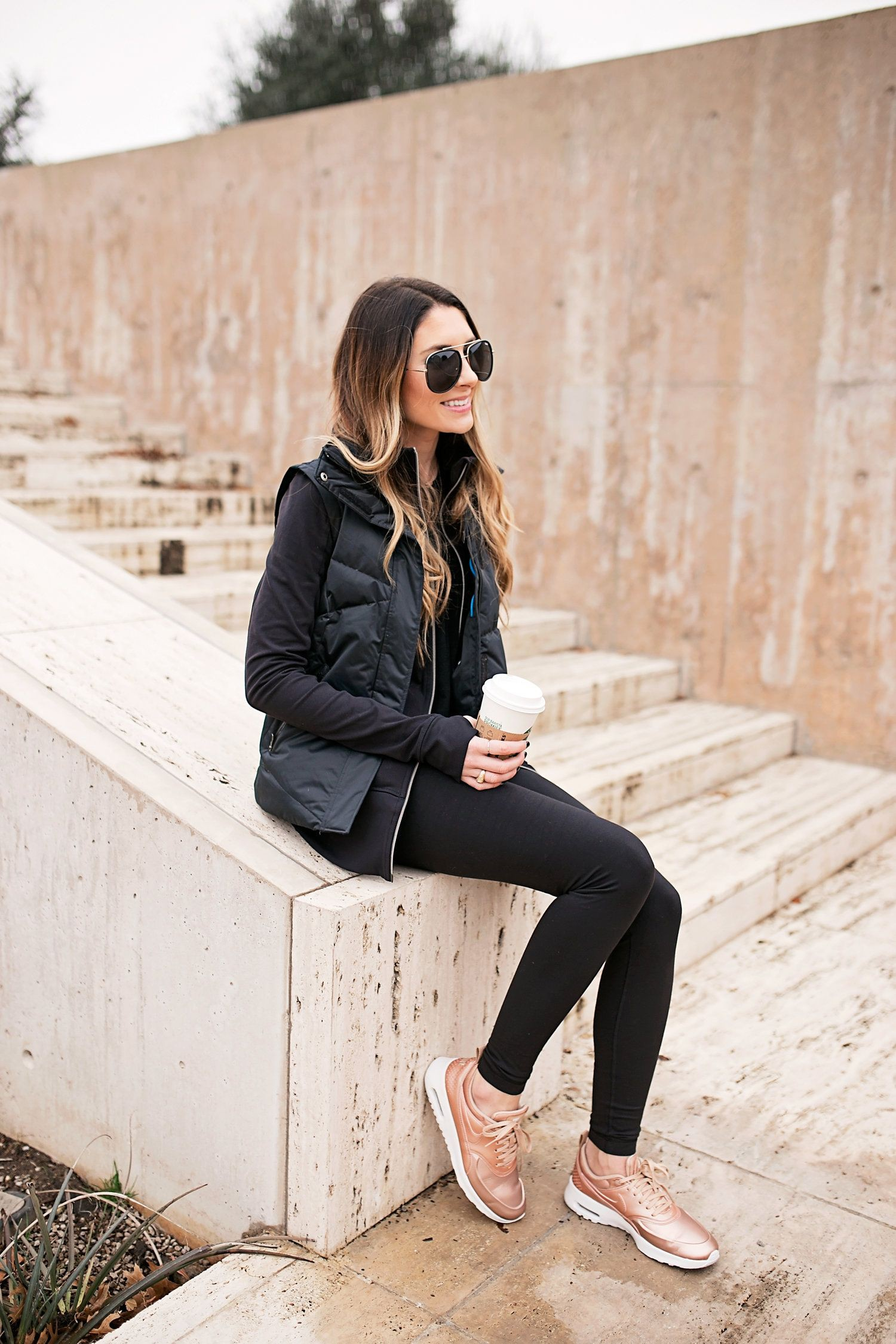 Rose gold sneaker outfit, Casual wear