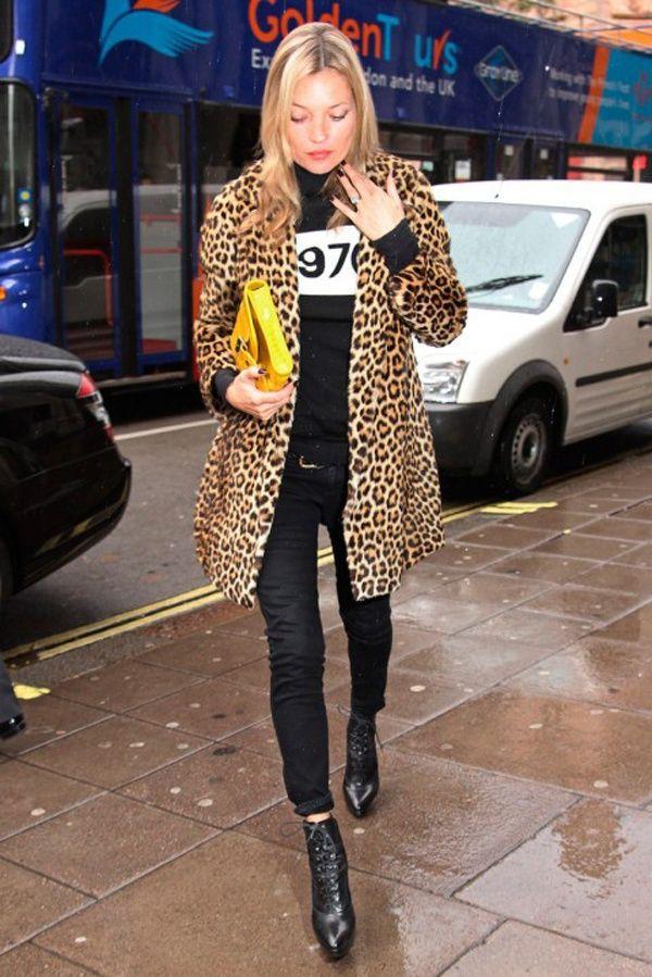 Leopard coat kate moss, Kate Moss