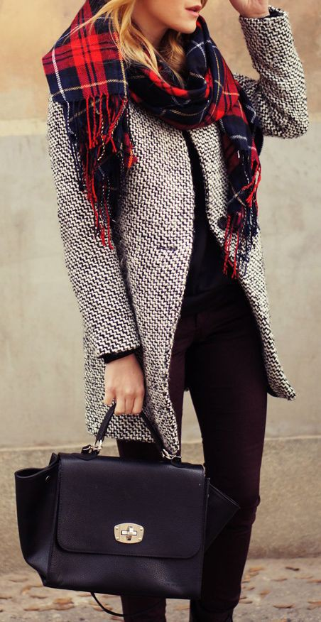 Dresses With Scarves, Winter clothing, Street fashion