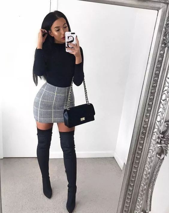 Winter date night outfits, Knee-high boot