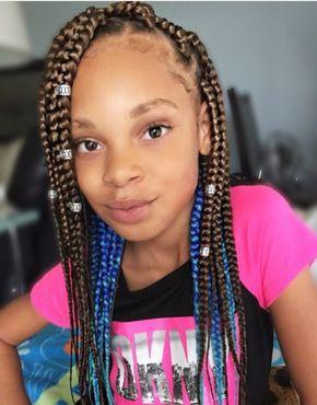 Blue Box braids for kids