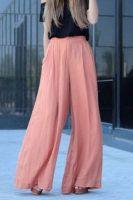 High waisted pants fashion pink